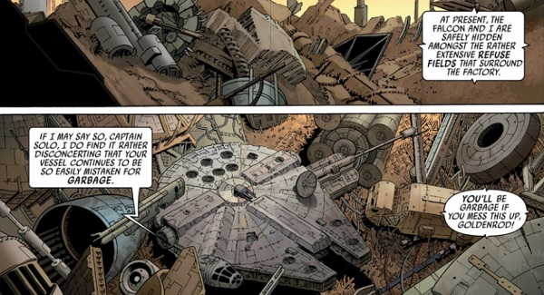 marvel star wars falcon hidden in garbage