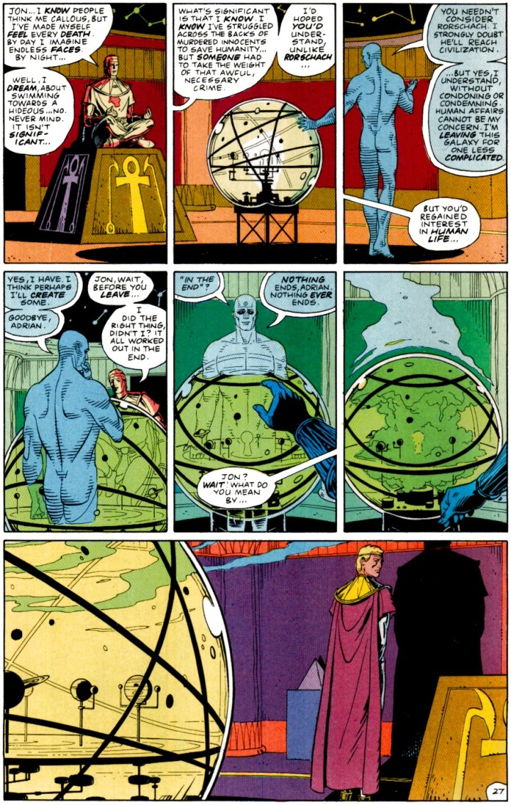 watchmen ending dr manhattan ozymandias