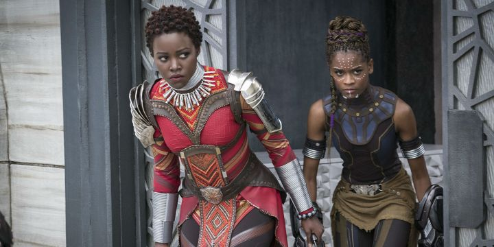 black panther review nakia shuri lupita nyongo letitia wright