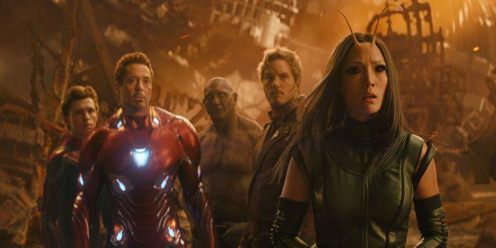 avengers infinity war spider-man iron man drax star-lord mantis