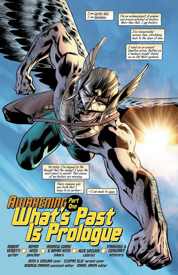 Hawkman #1 Page 1