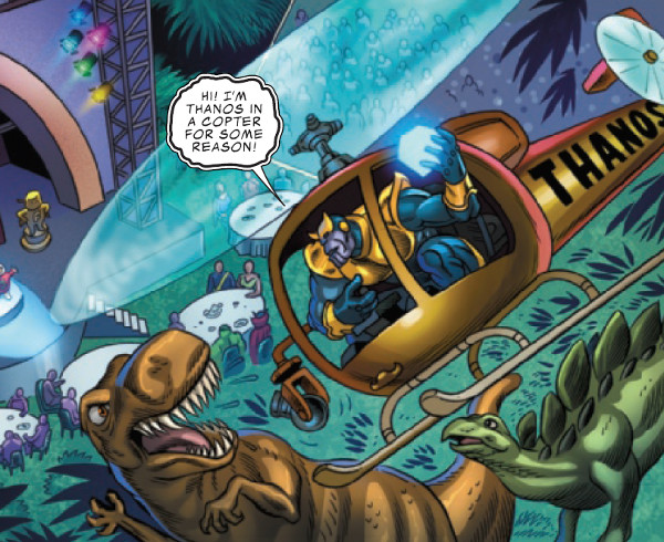 Crazy #1 Thanos In A Copter For Some Reason