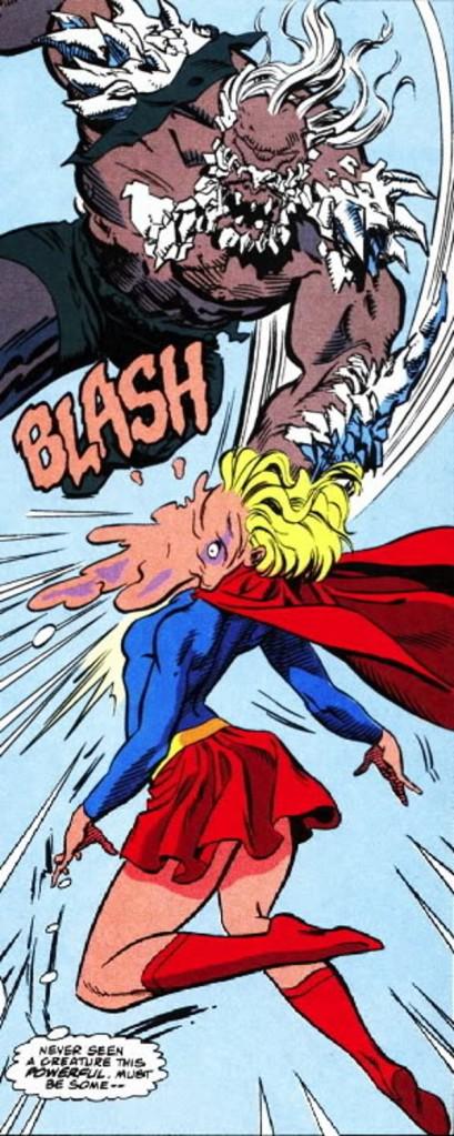 Doomsday Punches Matrix Supergirl